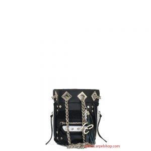 La Carrie Bag Mini tessuto tecnico bianco