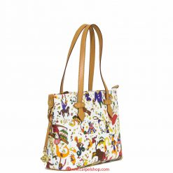Piero Guidi Magic Circus Shopper Mini Bianca Fronte