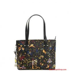 Piero Guidi Magic Cirucs Shopper Mini Nero fronte