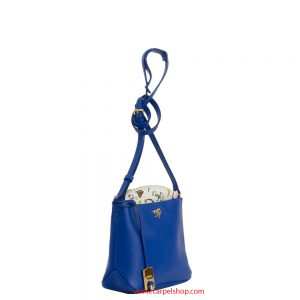 Piero Guidi Magic Circus Leather Tracollina Blu lato