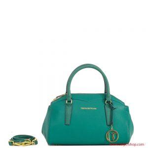 Trussardi Jeans Galapagos Bauletto Verde Smeraldo