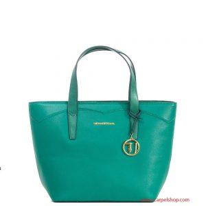 Trussardi Jeans Galapagos Shopper Verde Smeraldo