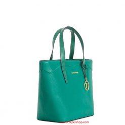 Trussardi Jeans Galapagos Shopper Verde Smeraldo lato