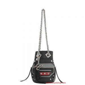 La Carrie bag Secchiello Mini Tessuto Tecnico Multicolo