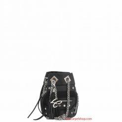 La Carrie Bag Secchiello Mini Tessuto tecnico Nero