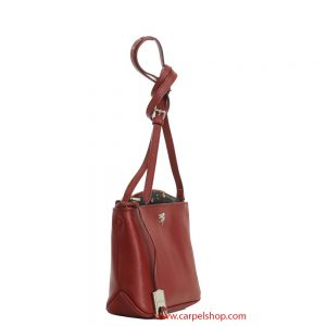 Piero Guidi Tracollina Magic Circus Leather Bordeaux lato