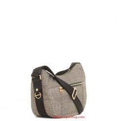 Borbonese Luna Bag Small con Zip Op Classic lato