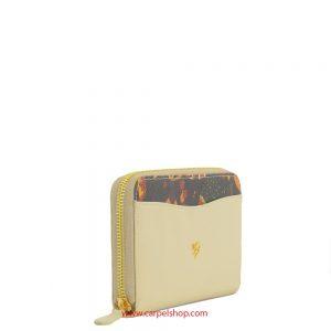 Piero Guidi Magic Circus Leather portafoglio zip around Beige lato