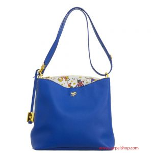 Piero Guidi Magic Circus Leather Tracolla Blu