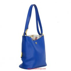Piero Guidi Magic Circus Leather Tracolla Blu lato