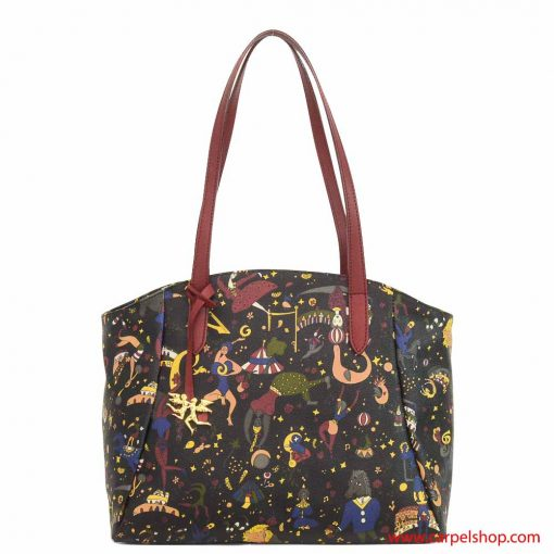 Borsa-piero-guidi-magic-circus-shopper-bordeaux-fronte