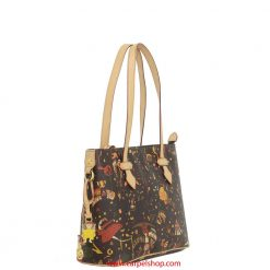 Piero Guidi Magic Circus Shopper Mini Marrone lato