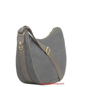 Borbonese Luna Bag medium Mud lato