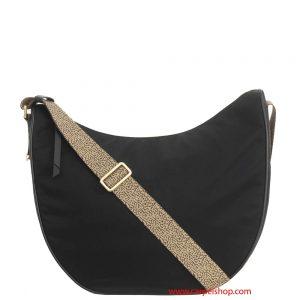 Borbonese Luna Bag Medium Nero rifiniture Op