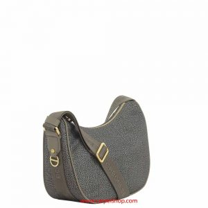 Borbonese Luna Bag Small Mud lato