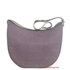 Borbonese Luna Bag Medium con tasche Elephant dietro