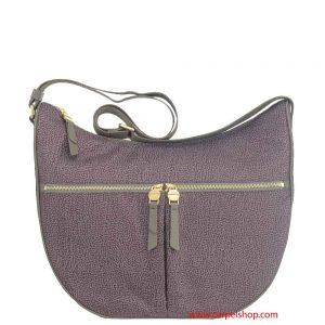 Borbonese Luna Bag Medium con tasche Elephant