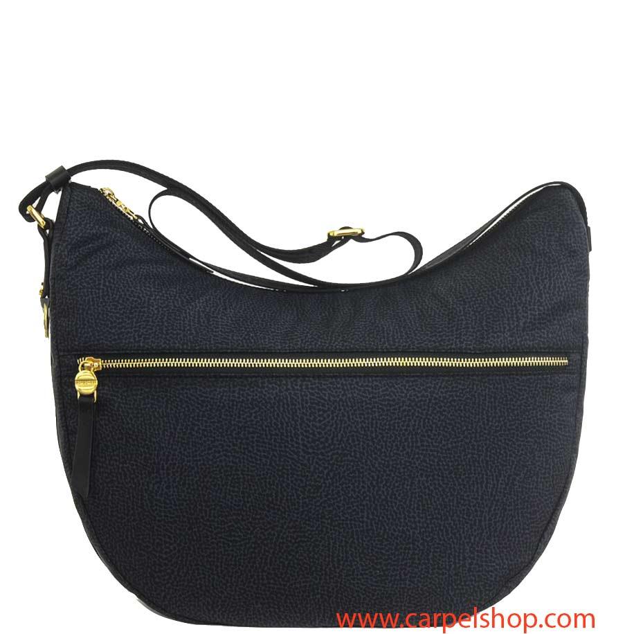 Borsa Borbonese Luna Bag Medium Tasca Nero