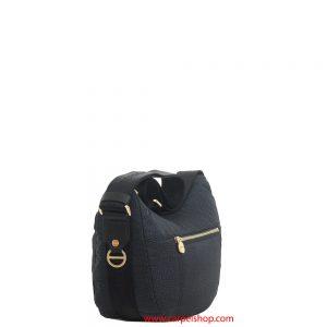 Borsa Borbonese Luna Bag Tasca Small Nero lato