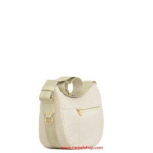 Borsa Borbonese Luna Bag Tasca Small Cream lato
