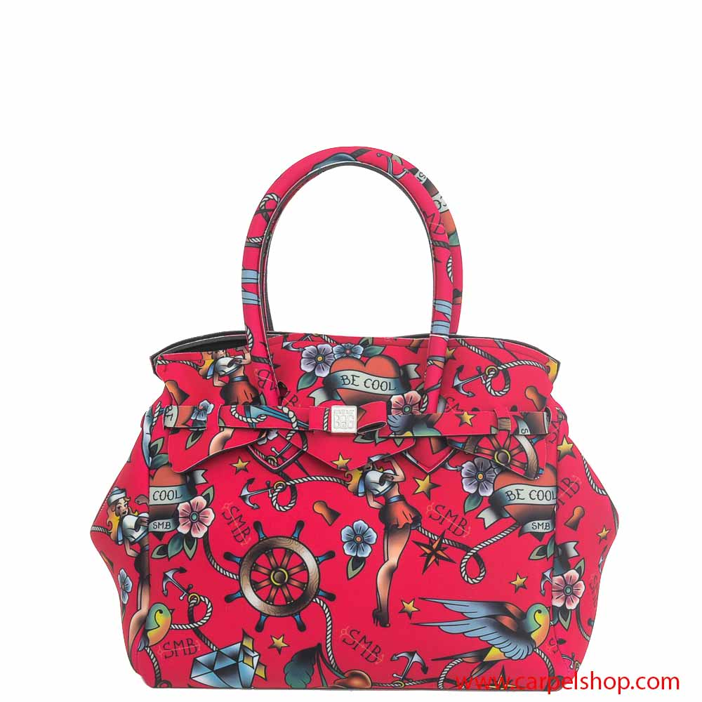 borsa save my bag miss tattoo porpora borse save my bag carpel shop. Black Bedroom Furniture Sets. Home Design Ideas