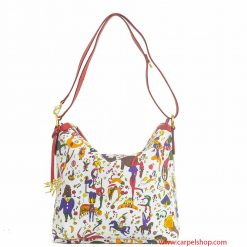 Borsa Piero Guidi Magic Circus Tracolla Bianco