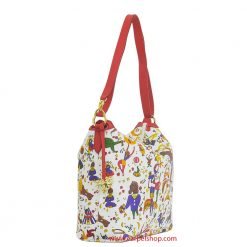 Borsa Piero Guidi Magic Circus Tracolla Bianco lato
