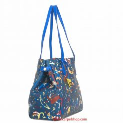 Piero Guidi Magic Circus Shopper Blu di Prussia lato