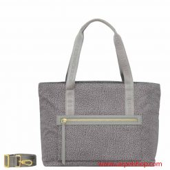 Borsa Borbonese Shopper Slate Grey