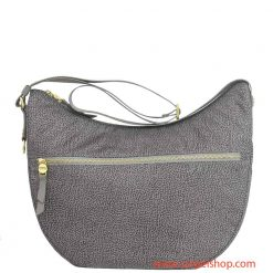 Borbonese Luna Bag Medium Tasca Slate Grey