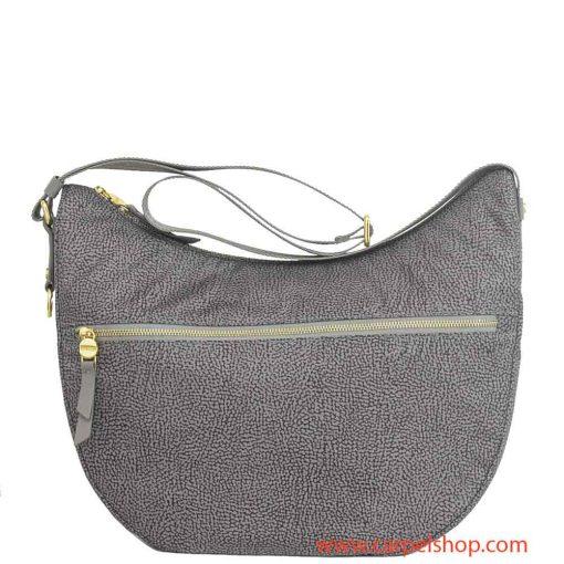 Borbonese Luna Bag Medium Tasca Slate Grey