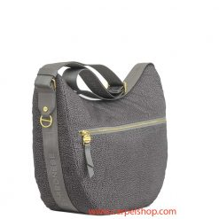 Borbonese Luna Bag Medium Tasca Slate Grey lato