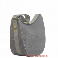 Borbonese Luna Bag Medium Slate Grey lato