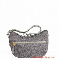 Borbonese Luna Bag Tasca Small Slate Grey fronte