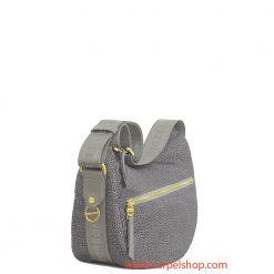 Borbonese Luna Bag Tasca Small Slate Grey lato