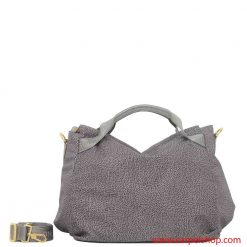 Borbonese Borsa a Mano Medium Slate Grey