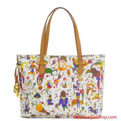 Piero Guidi Magic Circus Shopper Bianco fronte