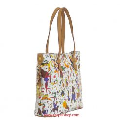 Piero Guidi Magic Circus Shopper Bianco lato
