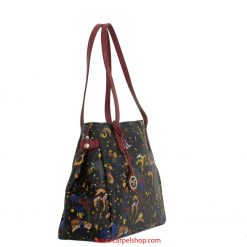 Borsa Piero Guidi Magic Circus Shopper Nero/Bordeaux lato