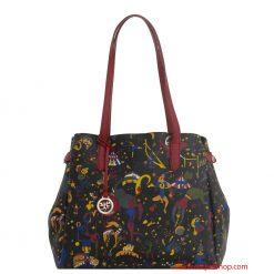Borsa Piero Guidi Magic Circus Shopper Nero/Bordeaux