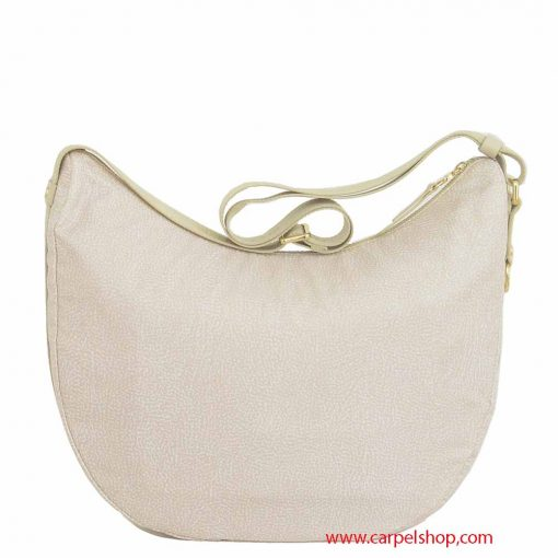 Borsa Borbonese Luna Bag Medium Tasca Cream dietro