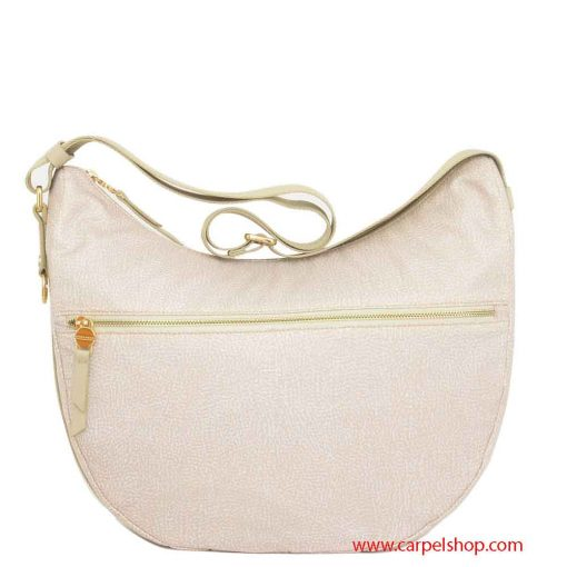 Borsa Borbonese Luna Bag Medium Tasca Cream