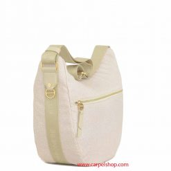 Borsa Borbonese Luna Bag Medium Tasca Cream lato