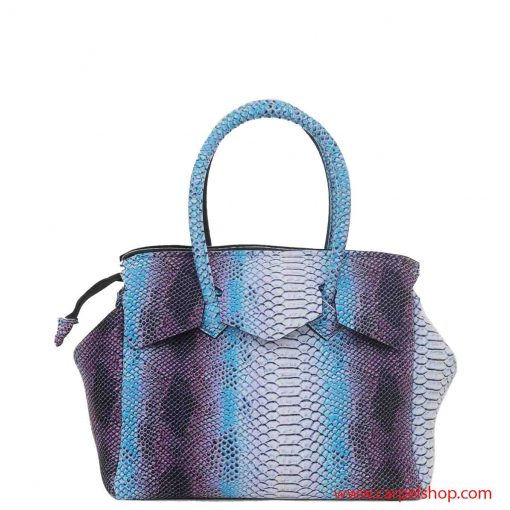 Borsa Save My Bag Miss Plus Python Bianco dietro
