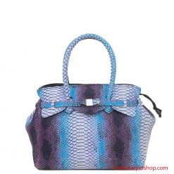 Borsa Save My Bag Miss Plus Python Bianco