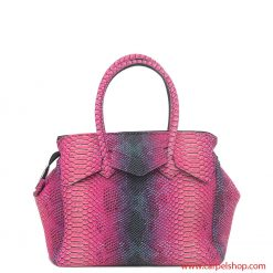 Borsa Save My Bag Miss Plus Python Rosa dietro
