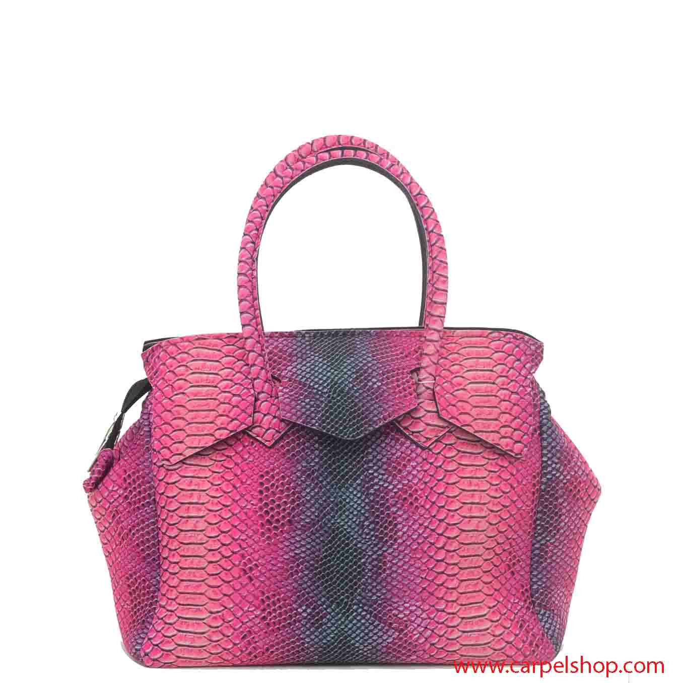 1f5ebde01d Borsa Save My Bag Miss Plus Python Rosa - Borse