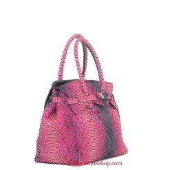 Borsa Save My Bag Miss Plus Python Rosa lato